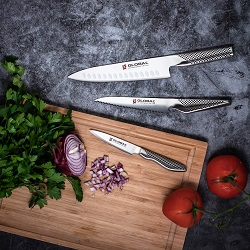global 3piece annivesary knife set