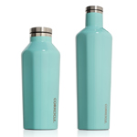 Two Sizes Available - Turquoise Vacuum Flask